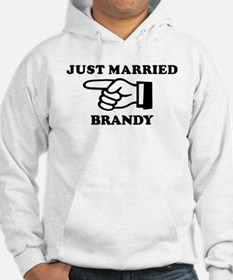 Just Married Brandy Hoodie Sweatshirt