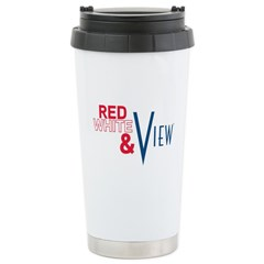 Red, White & View Stainless Steel Travel Mug
