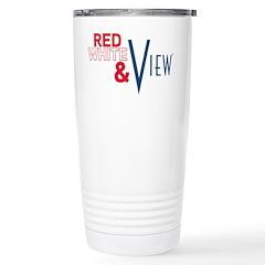 Red, White & View Travel Mug