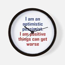 Optimistic Pessimist Wall Clock