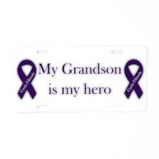 Grandson CF Hero Aluminum License Plate