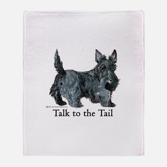 Scottish Terrier Attitude Throw Blanket