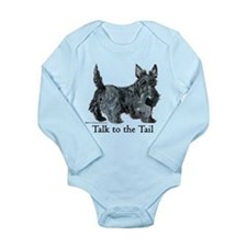 Scottish Terrier Attitude Long Sleeve Infant Bodys