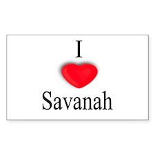 Savanah Rectangle Decal