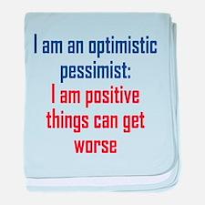 Optimistic Pessimist baby blanket