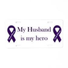 Husband CF Hero Aluminum License Plate