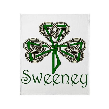 Sweeney Shamrock Throw Blanket