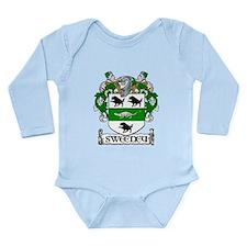 Sweeney Coat of Arms Long Sleeve Infant Bodysuit