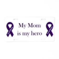 Mom Hero Aluminum License Plate