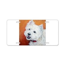 """Booker's"" Westie stuff! Aluminum License Plate"