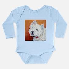 """""""Booker's"""" Westie stuff! Long Sleeve Infant Bodysu"""