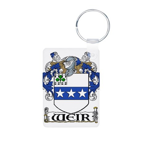 Weir Coat of Arms Aluminum Photo Keychain