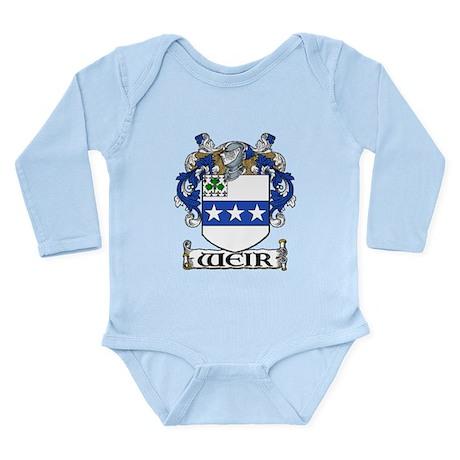 Weir Coat of Arms Long Sleeve Infant Bodysuit