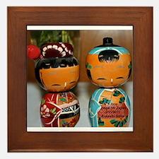 Kokeshi Dolls Framed Tile