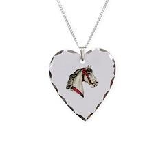 Dapple Grey Carousel Horse Necklace