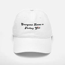 Loves Turkey Girl Baseball Baseball Cap