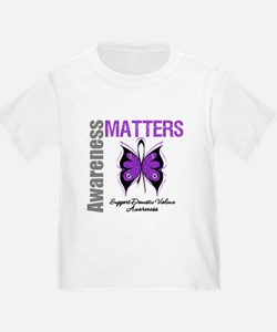 Domestic Violence Butterfly T