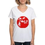 Cherry Blossom Women's V-Neck T-Shirt