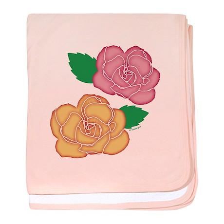 Roses Batik baby blanket