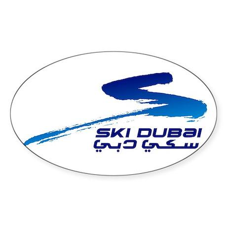 Ski Dubai Sticker (Oval)