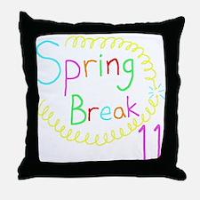 Spring Break 11 Throw Pillow