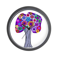 Absract Tree Art Wall Clock