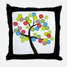 Absract Tree Art Throw Pillow