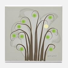 Absract Tree Art Tile Coaster