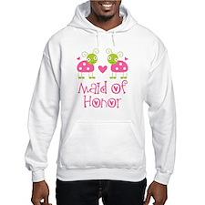 Maid Of Honor Ladybug Hoodie Sweatshirt