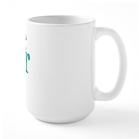Maid Of Honor Wedding Swirl Large Mug