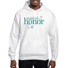Maid Of Honor Wedding Swirl Hoodie Sweatshirt