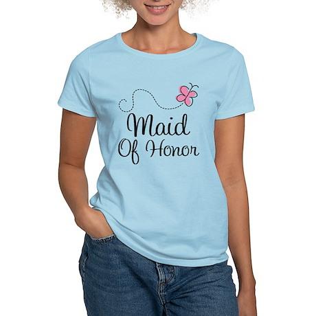 Maid Of Honor Butterfly Women's Light T-Shirt