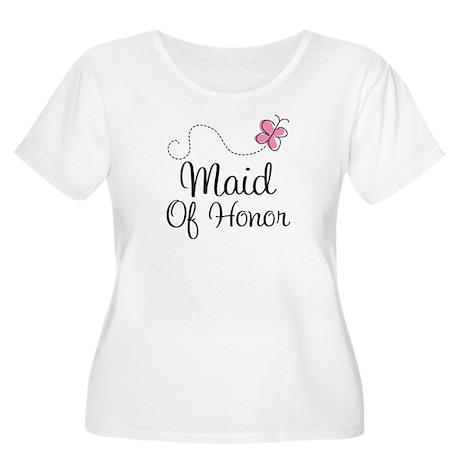 Maid Of Honor Butterfly Women's Plus Size Scoop Ne
