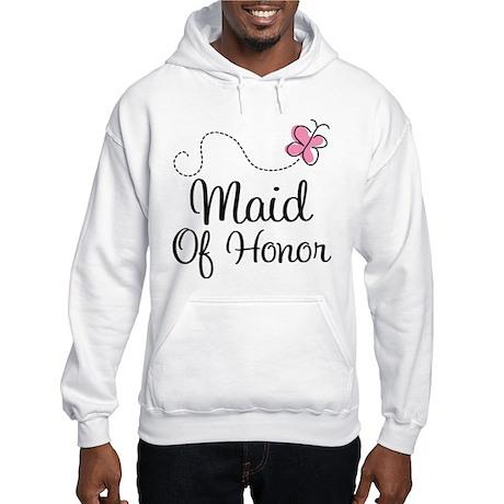 Maid Of Honor Butterfly Hooded Sweatshirt