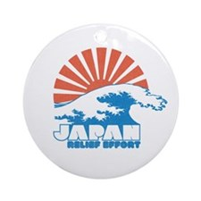 Japan Relief Effort Ornament (Round)