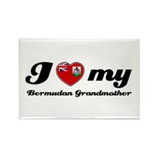 I love My Bermudan Grandmother Rectangle Magnet