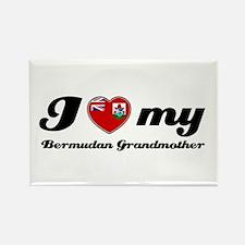 I love My Bermudan Grandmother Rectangle Magnet