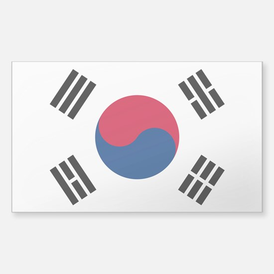 Korean Flag Sticker (Rectangle)