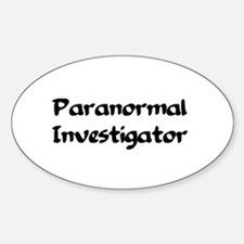 Cute Paranormal Sticker (Oval)
