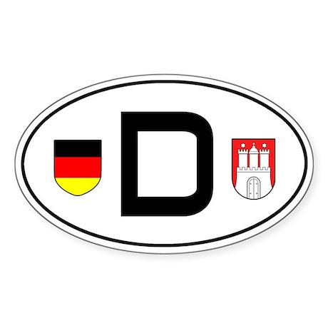 Germany car sticker (Hamburg variant)