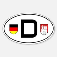 Germany car sticker (Hamburg variant)