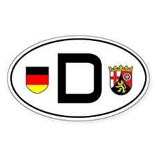Germany car sticker (Rheinland-Pfalz variant)