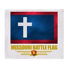 Missouri Battle Flag Throw Blanket