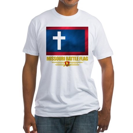 Missouri Battle Flag Fitted T-Shirt