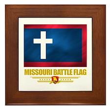 Missouri Battle Flag Framed Tile