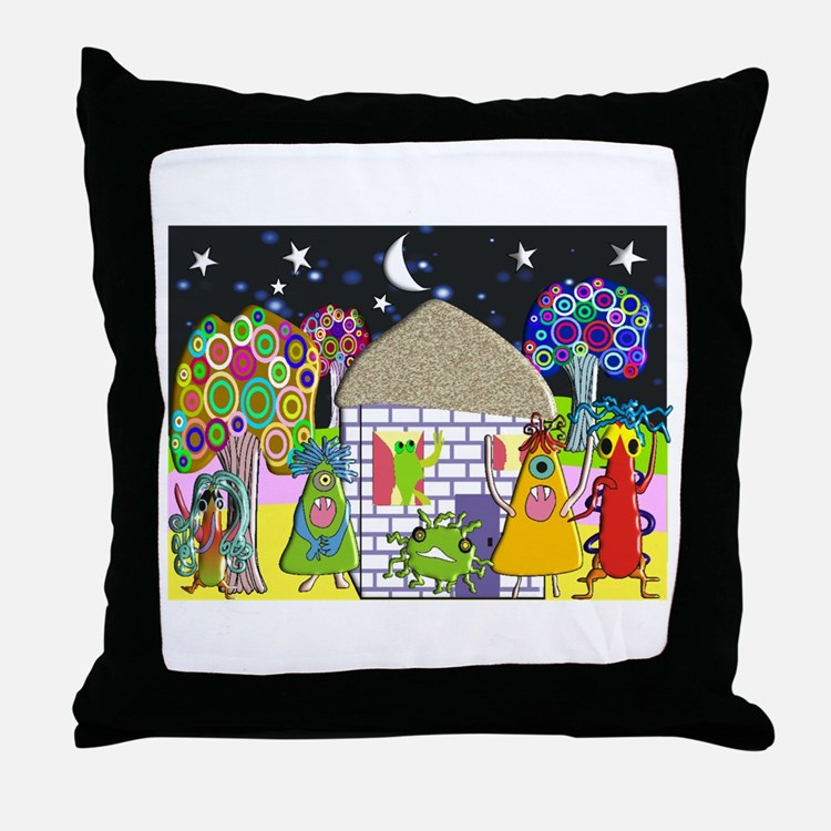 Monster Art Gifts Throw Pillow