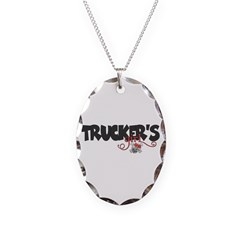 Trucker's Girl w/Skull Necklace