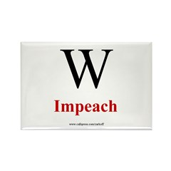 Impeach W Rectangle Magnet