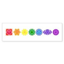 The Chakras Bumper Car Sticker