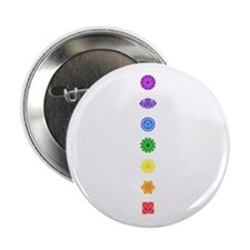 """The Chakras 2.25"""" Button (10 pack)"""